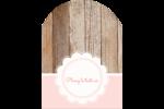 Dentelle sur bois Étiquettes rectangulaires - gabarit prédéfini. <br/>Utilisez notre logiciel Avery Design & Print Online pour personnaliser facilement la conception.