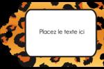 Imprimé léopard Étiquettes imprimables - gabarit prédéfini. <br/>Utilisez notre logiciel Avery Design & Print Online pour personnaliser facilement la conception.