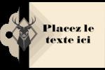 Chevreuils pour typographie Étiquettes imprimables - gabarit prédéfini. <br/>Utilisez notre logiciel Avery Design & Print Online pour personnaliser facilement la conception.