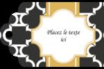Tuile marocaine noire Étiquettes imprimables - gabarit prédéfini. <br/>Utilisez notre logiciel Avery Design & Print Online pour personnaliser facilement la conception.