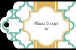 Tuile marocaine sarcelle Étiquettes imprimables - gabarit prédéfini. <br/>Utilisez notre logiciel Avery Design & Print Online pour personnaliser facilement la conception.