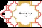 Tuile marocaine saumon Étiquettes imprimables - gabarit prédéfini. <br/>Utilisez notre logiciel Avery Design & Print Online pour personnaliser facilement la conception.