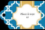 Tuile marocaine bleue Étiquettes imprimables - gabarit prédéfini. <br/>Utilisez notre logiciel Avery Design & Print Online pour personnaliser facilement la conception.