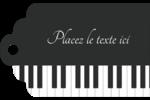 Clavier musical Étiquettes imprimables - gabarit prédéfini. <br/>Utilisez notre logiciel Avery Design & Print Online pour personnaliser facilement la conception.