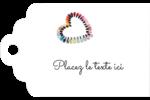 Vernis à ongles en cœur Étiquettes imprimables - gabarit prédéfini. <br/>Utilisez notre logiciel Avery Design & Print Online pour personnaliser facilement la conception.