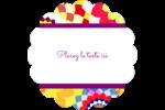 Baume à lèvres kaléidoscope Étiquettes festonnées - gabarit prédéfini. <br/>Utilisez notre logiciel Avery Design & Print Online pour personnaliser facilement la conception.