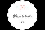 Monogramme Étiquettes festonnées - gabarit prédéfini. <br/>Utilisez notre logiciel Avery Design & Print Online pour personnaliser facilement la conception.