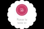 Monogramme en chevron Étiquettes festonnées - gabarit prédéfini. <br/>Utilisez notre logiciel Avery Design & Print Online pour personnaliser facilement la conception.