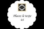 Tuile marocaine noire Étiquettes festonnées - gabarit prédéfini. <br/>Utilisez notre logiciel Avery Design & Print Online pour personnaliser facilement la conception.