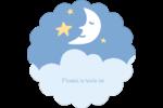 Bébé lune Étiquettes D'Adresse - gabarit prédéfini. <br/>Utilisez notre logiciel Avery Design & Print Online pour personnaliser facilement la conception.