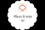Tuile marocaine saumon Étiquettes festonnées - gabarit prédéfini. <br/>Utilisez notre logiciel Avery Design & Print Online pour personnaliser facilement la conception.