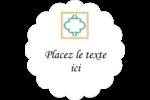 Tuile marocaine sarcelle Étiquettes festonnées - gabarit prédéfini. <br/>Utilisez notre logiciel Avery Design & Print Online pour personnaliser facilement la conception.