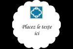 Tuile marocaine bleue Étiquettes festonnées - gabarit prédéfini. <br/>Utilisez notre logiciel Avery Design & Print Online pour personnaliser facilement la conception.