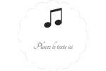 Clavier musical Étiquettes festonnées - gabarit prédéfini. <br/>Utilisez notre logiciel Avery Design & Print Online pour personnaliser facilement la conception.