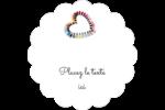 Vernis à ongles en cœur Étiquettes festonnées - gabarit prédéfini. <br/>Utilisez notre logiciel Avery Design & Print Online pour personnaliser facilement la conception.