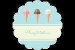 Chariot à crème glacée Étiquettes rondes - gabarit prédéfini. <br/>Utilisez notre logiciel Avery Design & Print Online pour personnaliser facilement la conception.