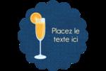 Mimosa Étiquettes rondes - gabarit prédéfini. <br/>Utilisez notre logiciel Avery Design & Print Online pour personnaliser facilement la conception.