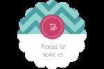 Monogramme en chevron Étiquettes rondes - gabarit prédéfini. <br/>Utilisez notre logiciel Avery Design & Print Online pour personnaliser facilement la conception.