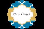 Tuile marocaine bleue Étiquettes rondes - gabarit prédéfini. <br/>Utilisez notre logiciel Avery Design & Print Online pour personnaliser facilement la conception.