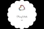 Vernis à ongles en cœur Étiquettes rondes - gabarit prédéfini. <br/>Utilisez notre logiciel Avery Design & Print Online pour personnaliser facilement la conception.