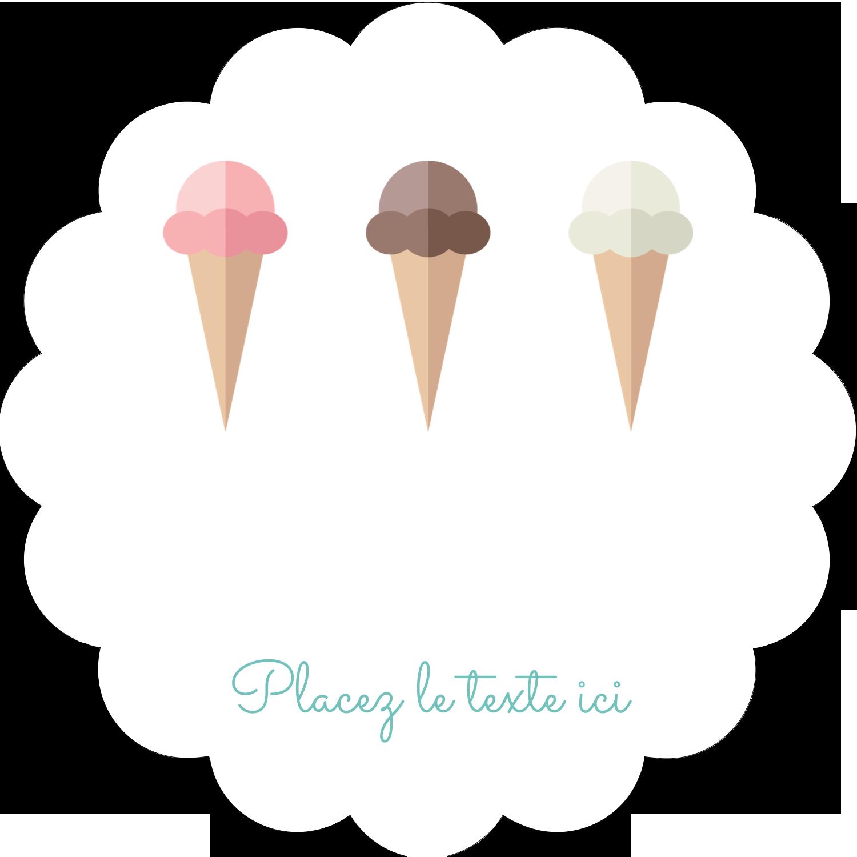 """½"""" x 1¾"""" Étiquettes D'Adresse - Chariot à crème glacée"""