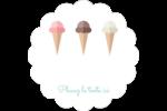 Chariot à crème glacée Étiquettes D'Adresse - gabarit prédéfini. <br/>Utilisez notre logiciel Avery Design & Print Online pour personnaliser facilement la conception.