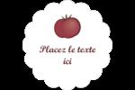 Tomate italienne Étiquettes festonnées - gabarit prédéfini. <br/>Utilisez notre logiciel Avery Design & Print Online pour personnaliser facilement la conception.