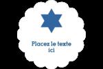 Étoile de David Judaism Étiquettes festonnées - gabarit prédéfini. <br/>Utilisez notre logiciel Avery Design & Print Online pour personnaliser facilement la conception.