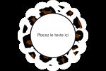 Imprimé léopard Étiquettes festonnées - gabarit prédéfini. <br/>Utilisez notre logiciel Avery Design & Print Online pour personnaliser facilement la conception.