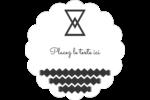 Triangles modernes pour typographie Étiquettes festonnées - gabarit prédéfini. <br/>Utilisez notre logiciel Avery Design & Print Online pour personnaliser facilement la conception.