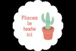 Plantes en pot fantaisistes Étiquettes festonnées - gabarit prédéfini. <br/>Utilisez notre logiciel Avery Design & Print Online pour personnaliser facilement la conception.