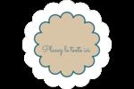 Baume à lèvres cachemire Étiquettes festonnées - gabarit prédéfini. <br/>Utilisez notre logiciel Avery Design & Print Online pour personnaliser facilement la conception.