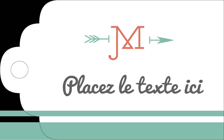 """2"""" x 1⅛"""" Étiquettes imprimables - Monogramme"""