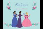 Princesses Carte Postale - gabarit prédéfini. <br/>Utilisez notre logiciel Avery Design & Print Online pour personnaliser facilement la conception.
