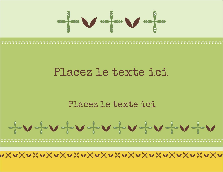 """4¼"""" X 5½"""" Carte Postale - Fleurs vertes géométriques"""