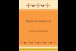 Fleurs orange géométriques Carte Postale - gabarit prédéfini. <br/>Utilisez notre logiciel Avery Design & Print Online pour personnaliser facilement la conception.