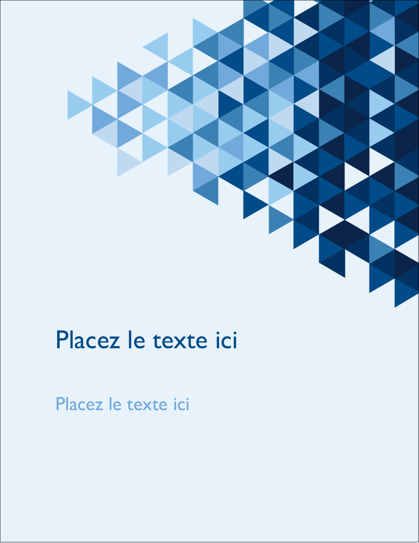 "5½"" x 4¼"" Carte Postale - Angles bleus"