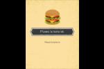 Hamburger Carte Postale - gabarit prédéfini. <br/>Utilisez notre logiciel Avery Design & Print Online pour personnaliser facilement la conception.