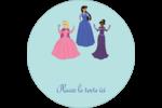 Princesses Étiquettes rondes - gabarit prédéfini. <br/>Utilisez notre logiciel Avery Design & Print Online pour personnaliser facilement la conception.