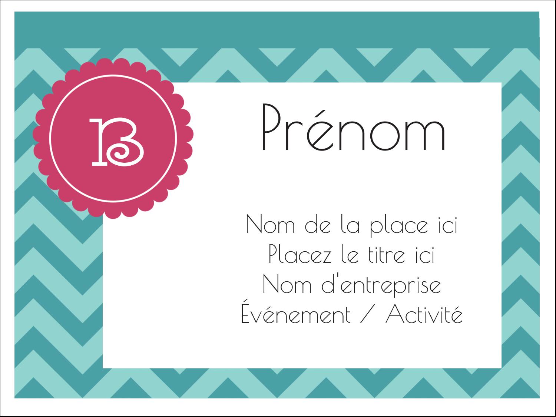 "3"" x 4"" Badges - Monogramme en chevron"