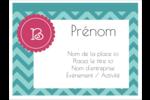 Monogramme en chevron Badges - gabarit prédéfini. <br/>Utilisez notre logiciel Avery Design & Print Online pour personnaliser facilement la conception.