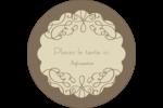 Fioritures sur ornement Étiquettes Voyantes - gabarit prédéfini. <br/>Utilisez notre logiciel Avery Design & Print Online pour personnaliser facilement la conception.