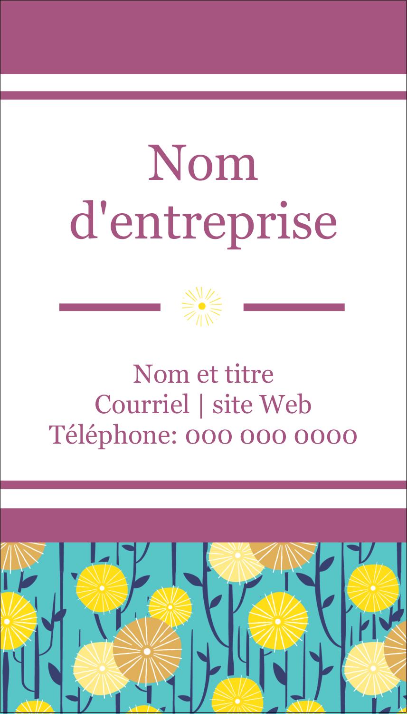 """2"""" x 3½"""" Carte d'affaire - Impression pissenlit"""
