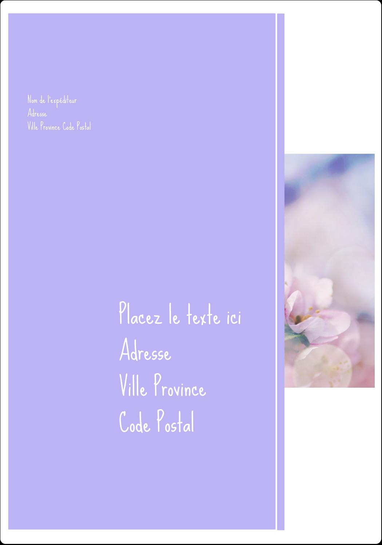 """⅔"""" x 1¾"""" Étiquettes D'Adresse - Arrangement floral"""