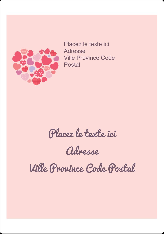 """⅔"""" x 1¾"""" Étiquettes D'Adresse - Courtepointe en cœur"""