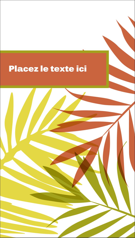 """2"""" x 3½"""" Carte d'affaire - Palmes ensoleillées"""