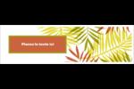 Palmes ensoleillées Affichette - gabarit prédéfini. <br/>Utilisez notre logiciel Avery Design & Print Online pour personnaliser facilement la conception.