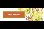 Palmes ensoleillées Carte de note - gabarit prédéfini. <br/>Utilisez notre logiciel Avery Design & Print Online pour personnaliser facilement la conception.