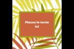 Palmes ensoleillées Étiquettes enveloppantes - gabarit prédéfini. <br/>Utilisez notre logiciel Avery Design & Print Online pour personnaliser facilement la conception.