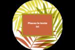 Palmes ensoleillées Étiquettes arrondies - gabarit prédéfini. <br/>Utilisez notre logiciel Avery Design & Print Online pour personnaliser facilement la conception.
